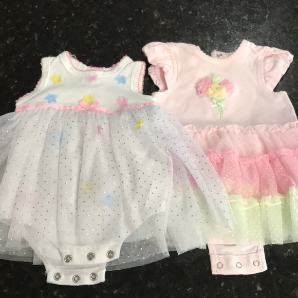 Little Me Other - 2 baby girl dresses size  3 months
